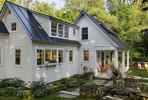 Charleston Porch Swing by Standing Seam Copper Exterior Contemporary With Cladding