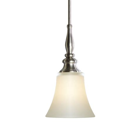 allen and roth pendant lighting shop allen roth 6 25 in w brushed nickel mini pendant