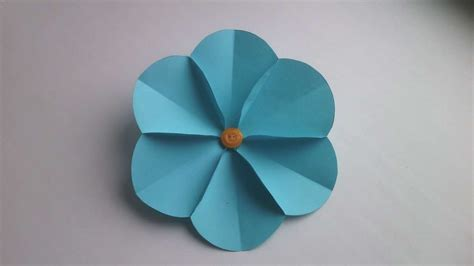 easy paper flower crafts how to make a simple paper flower diy crafts tutorial