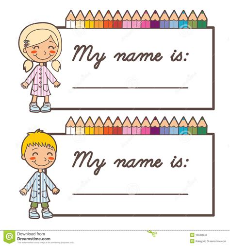 how to make cards for school school student name cards stock vector image of