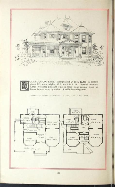 era house plans artistic homes herbert c chivers architect 1800 s 1940 s house plans architects