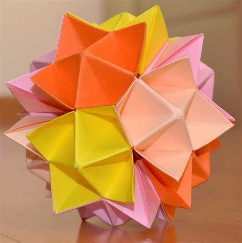 origami spike kusudama spike how to make tutorial
