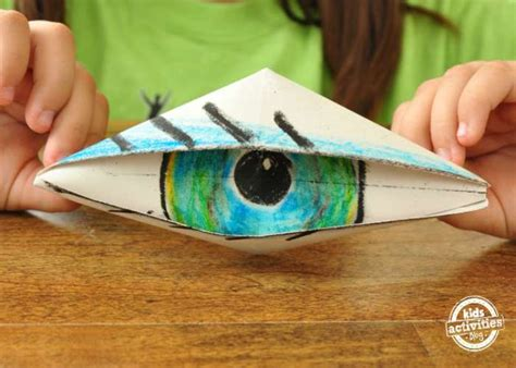 origami blinking eye 15 easy origami patterns for