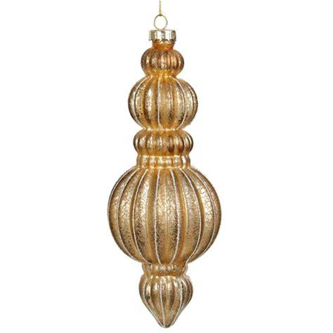finial ornaments new kurt adler 7 quot gold glass finial ornament c4680
