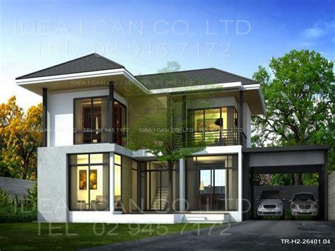 modern 2 story house plans modern contemporary house