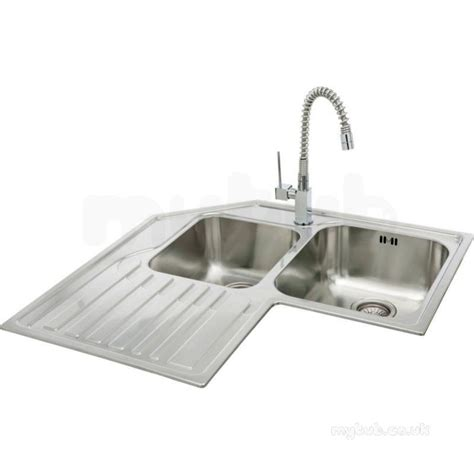 lavella corner kitchen sink with left bowl and