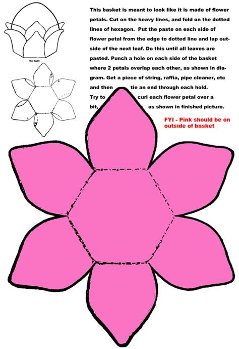 flower paper craft template 1000 images about easter baskets on easter