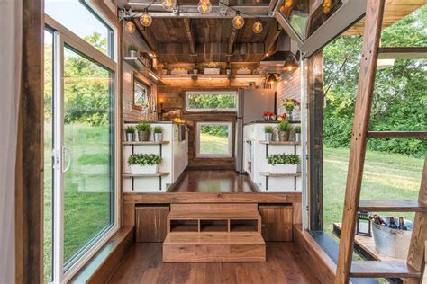 tiny homes interiors tiny home clad in burnt wood packs a ton of luxury into