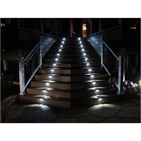solar lights for stairs hoont waterproof outdoor stainless steel led solar step