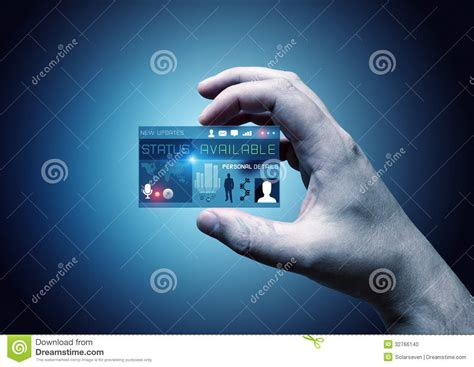 digital card digital business card stock photo image 32766140