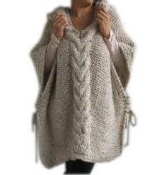 knitted ponchos 50 clearence tweed beige knitted poncho with