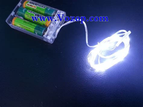 battery lights 2m 20 leds copper wire led lights battery operated