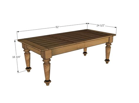 Height Of Coffee Table ana white turned leg coffee table diy projects