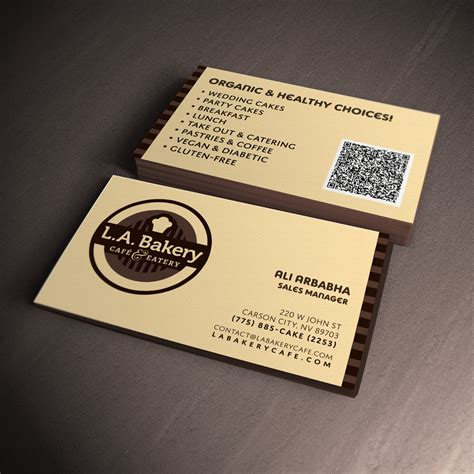 bakery business cards pictures to pin on pinterest