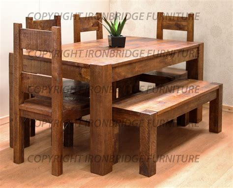 dining table and four chairs rustic farm 160cm dining table 4 chairs 135cm bench