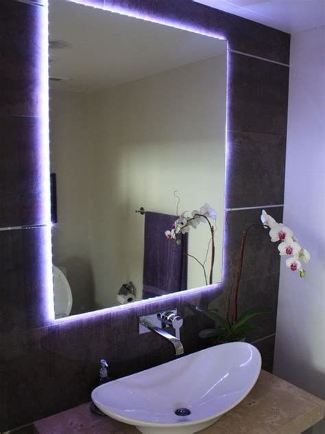 bathroom mirror with lights around it different ways in which you can use led lights in your home