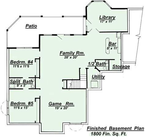 ranch house floor plans with basement house plans with finished basement smalltowndjs