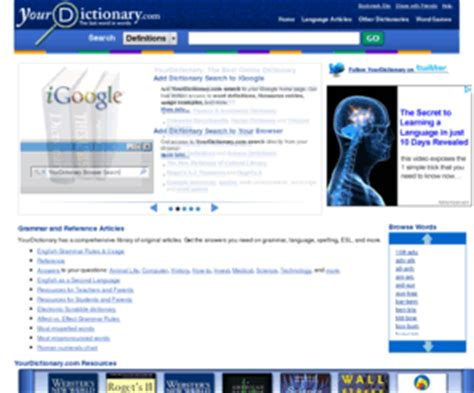 Yourdictionary Dictionary And Thesaurus Free