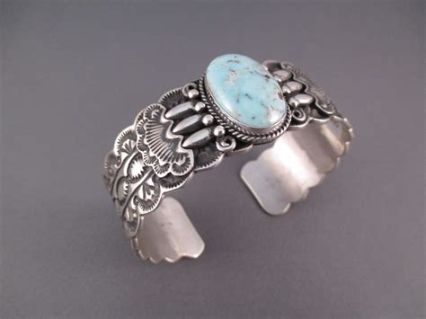 silversmith jewelry br3305 sterling silver and creek turquoise cuff