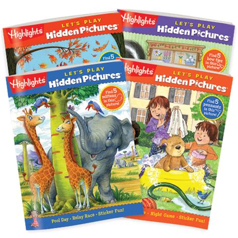 highlights pictures books pictures let s play 4 book set highlights for