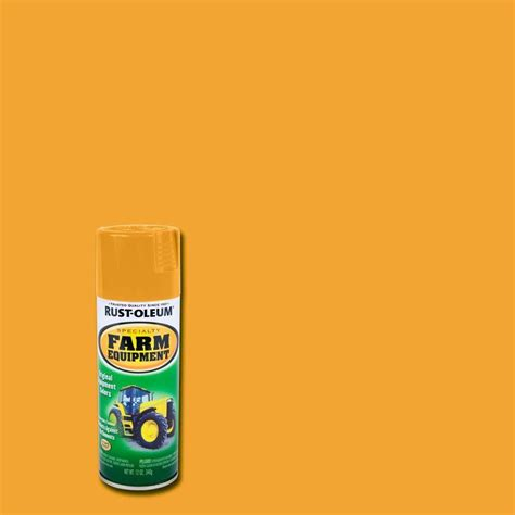 home depot yellow paint suit rust oleum specialty 12 oz yellow farm equipment