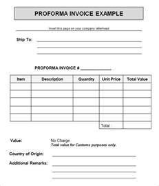 15 proforma invoice templates download free documents