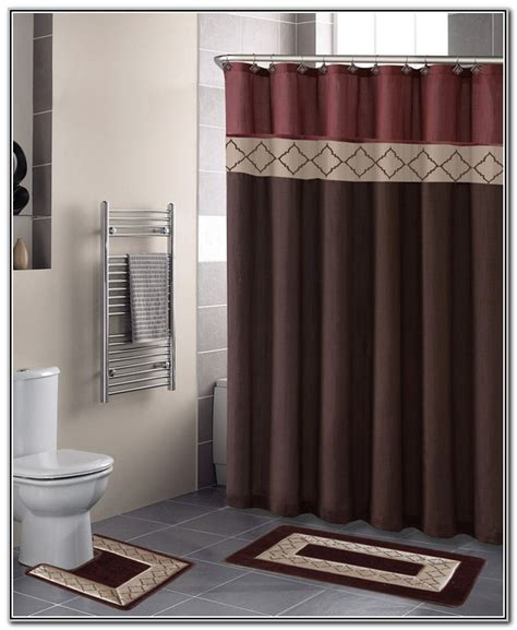 bathroom shower curtain sets bathroom sets with shower curtain and rugs decor