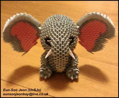 3d origami elephant origamianimal explore origamianimal on deviantart