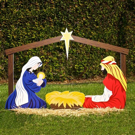 nativity decorations outdoor large outdoor ornaments nativity yard decorations