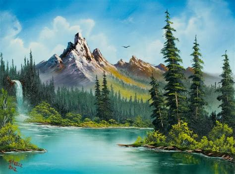 bob ross painting in 17 best ideas about scenery paintings on sky