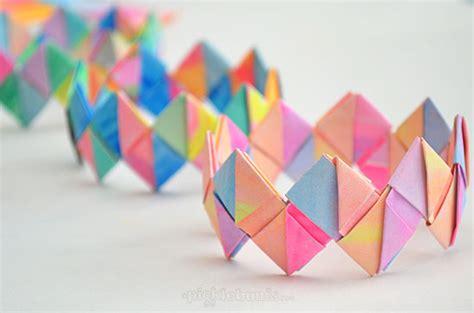 diy paper crafts tutorials diy paper crafts tutorials diy folded bracelets
