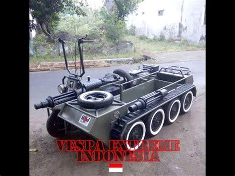 Modifikasi Vespa Tank by Tank Vespa