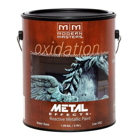 home depot paint effects modern masters 1 gal metal effects oxidizing iron paint