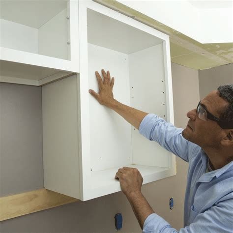 how to install kitchen wall cabinets install cabinets