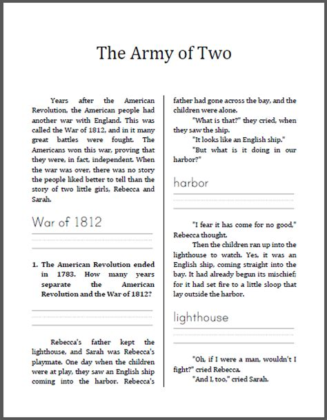 war of 1812 worksheets for kids search results new