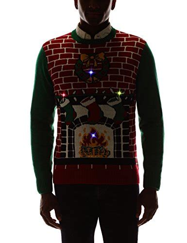 Sweaters With Lights And by Fireplace Is Lit Light Up Sweater