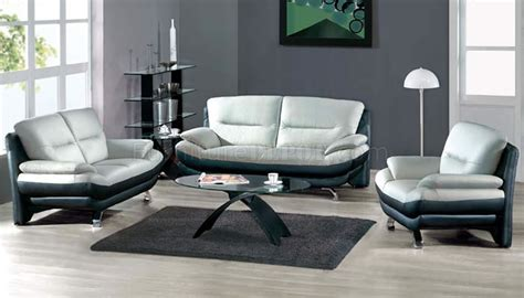 grey leather living room furniture two toned grey black leather 7068 contemporary living room