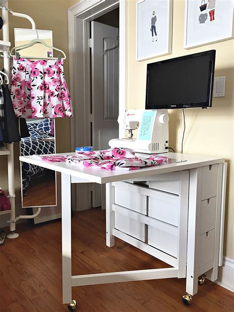 sewing table ideas history in high heels ikea sewing table