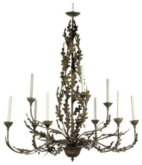oak leaf chandelier oak leaf and acorn chandelier nine arm traditional