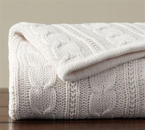 cozy cable knit throw cozy cable knit throw pottery barn