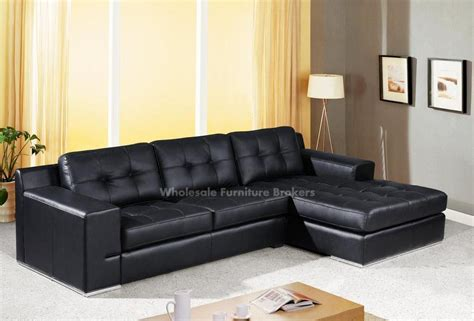 sectional sofa leather black leather sectional sofas plushemisphere