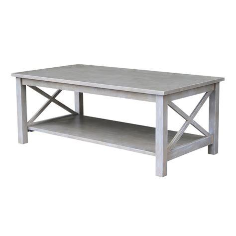 weathered grey coffee table international concepts hton weathered grey coffee table