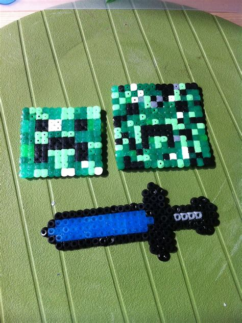 minecraft hama 60 best images about minecraft on perler bead