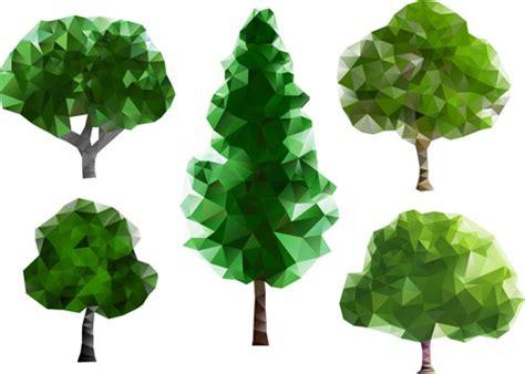 tree shapes geometric shapes tree vector illustration 02 vector