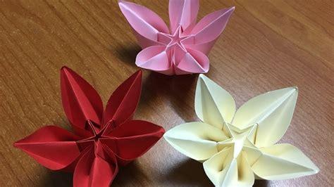 origami carambola flowers how to make origami flower carambola diy tutorial