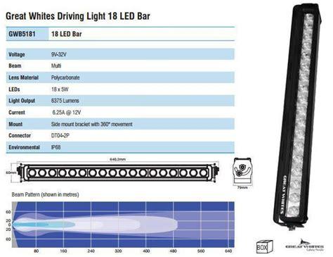 great white led light bars great white led driving light bar 18 led