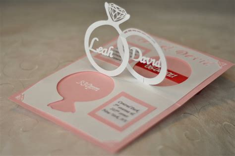 how to make pop up invitation cards wedding invitation linked rings pop up card template