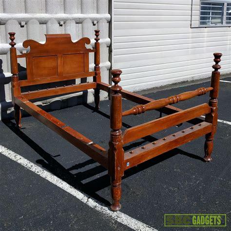 real wood bed frame antique vintage real solid wood size bed frame ebay