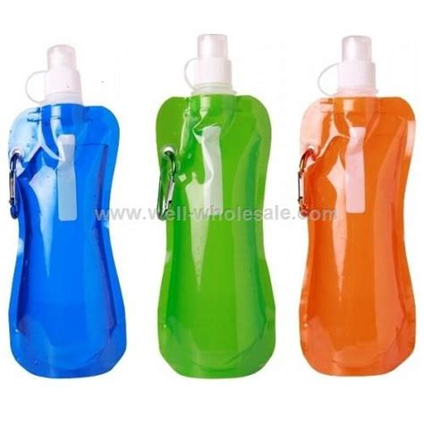 water wholesale 480ml portable foldable plastic water bottle wholesale