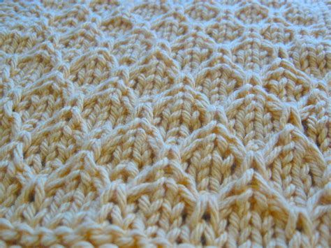 honeycomb knitting pattern knitted honeycomb dishcloth 1